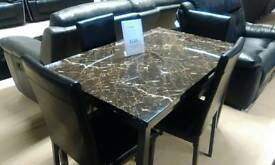 RUBY 120CM DINING TABLE WITH 4 CHAIRS NOW TO CLEAR £239.00