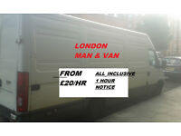 LONDON MAN AND VAN FROM £20/HR