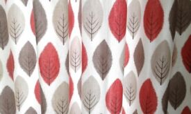 Ring Top curtains large leaf pattern 45 x 54