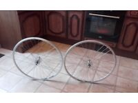 New fixed wheel gear pair wheels - large flange silver or black rigida and novatec