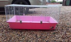 Rabbit guineapig pink indoor cage