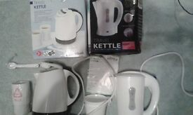 KETTLES X2 , SMALL CAMPING/STUDENTS/BEDSITS..BNIB £15 OVNO FOR THE PAIR