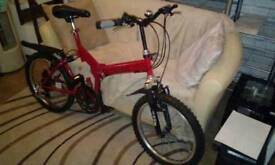 large Red folding light weight bike age 14+ and Adult 18+