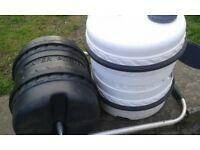 caravan waste & water barrel