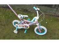 "12"" Girls Bike with parent Handle"