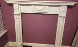 Shabby chic fire surrounded