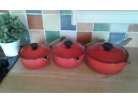 LECRUEST SET SAUCEPANS