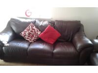 Leather 3 seater settees for sale