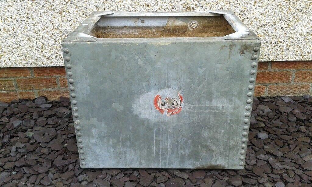 1950s Galvanised Water Tank