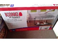 KONG ULTRA STRONG DOUBLE DOOR LARGE DOG CRATE.