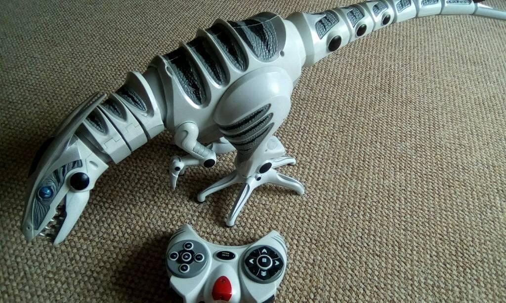 Large roboraptor with remote control.