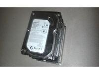Hard drives, 6 x 3.5 hdd, together 1TB
