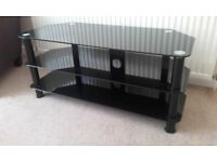 Three Tier Black Gloss LCD TV Stand