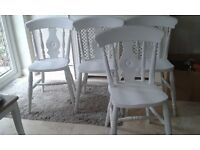 4 Shabby Chic chairs