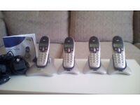 BT Freestyle 7110 telephones X4