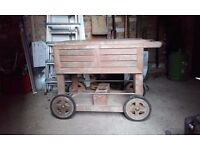 Garden Trolley - Alexander Rose Teak Hardwood - as new
