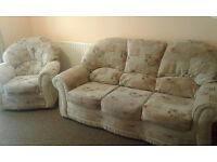 3 seater sofa and chair. Very good condition. 2 years old