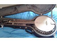 🎶 Ozark six string Guitar Banjo complete with Hard'case 🎶