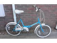 Vintage Retro Raleigh Universal 3-Speed Folding Bike Bicycle