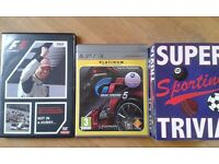 Collector Jenson B DVD, PlayStation Gran Turismo 5, Sport Trivia game gift pack