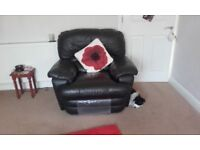 Leather 3 peice.Great condition and most comfortable with reclining seats.All offers considered