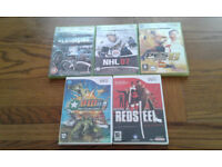 3 Xbox 360 and 2 Wii games