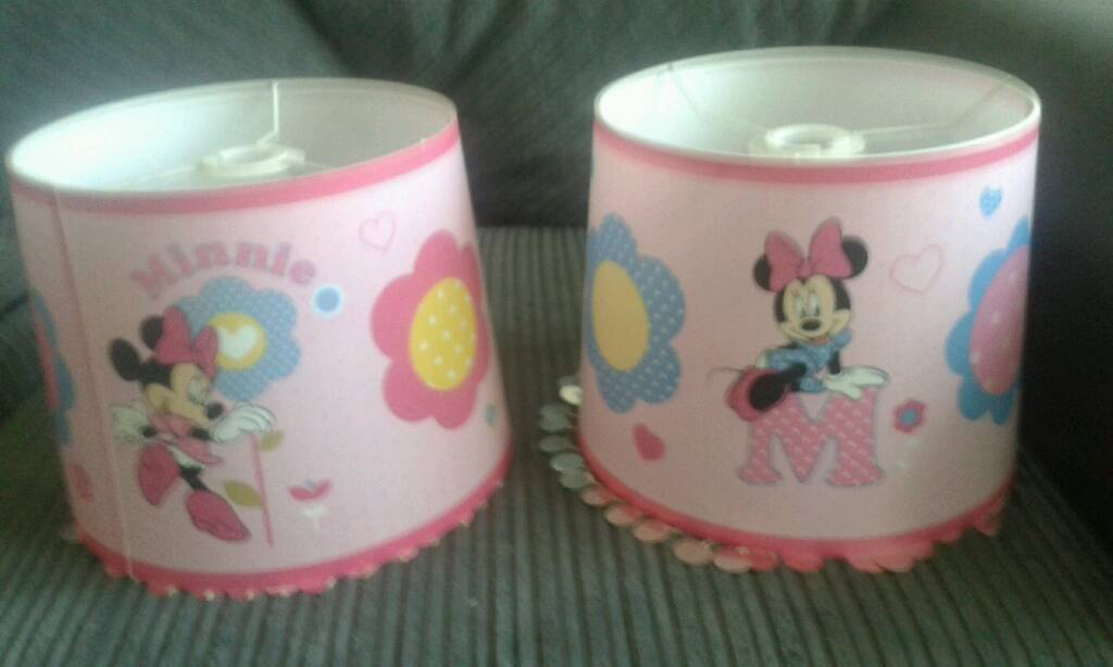 Pair minnie mouse lamp shades in darlington county durham gumtree pair minnie mouse lamp shades aloadofball Image collections