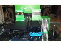 Xbox one 500GB+6games +2controllers .