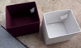 Fold out storage boxes