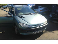 1999 Peugeot 206 1.4 LX 5dr AC green KRV BREAKING FOR SPARES