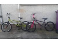 BMX children's cycle bikes