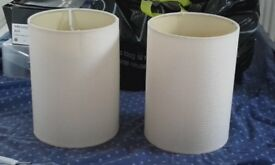 Pair of ivory/cream ceiling lamp shades
