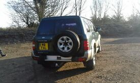 Nissan patrol with private plate