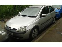 2001 Vauxhall Corsa C 1.2 16v Sxi 3dr star silver 2 147 83u 82l BREAKING FOR SPARES