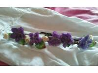 Lilac flower headband
