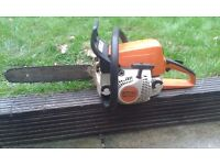 Stihl petrol ms210c chainsaw