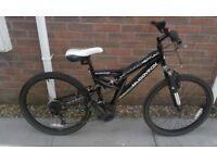 "Boys MuddyFox Neptune 24"" Wheel Dual Suspension Mountain Bike Bicycle"