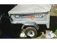 Great condition Erde 102 car trailer plus it tips for sale.