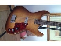 Bass Guitar Vintage Kay 5935 Chambered body Bass with original case.