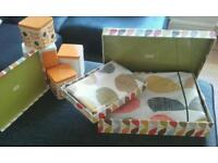 Duvet set and Canisters (Orla Kiely)