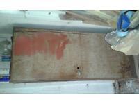 Metal Single Door Cabinet. Suitable for garage or garden shed Tel 07541 030511