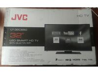 "BRAND NEW JVC LT-32C650 32"" LED HD SMART TV Freeview USB Record, Pause & Play HDMI"