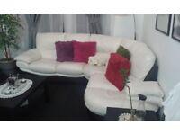 Leather corner sofas + 2 seater