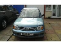 nissan micra 27k mileage full service no mot but its like brand new well looked aftered.