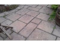 Garden slabs - different sizes of garden slabs - must uplift