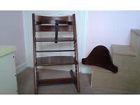 Stokke Tripp Trapp High Chair With Baby Set WALNUT. CH2.