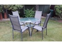 Patio set - table and 4 chairs