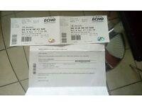 2 x Bob Dylan tickets. Liverpool Echo 08/05/2017