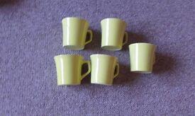 Set of 5 tea cup