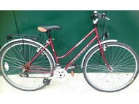 Vintage Classic Peugeot Country 105 hybrid Touring Road Bike ladies bicycle